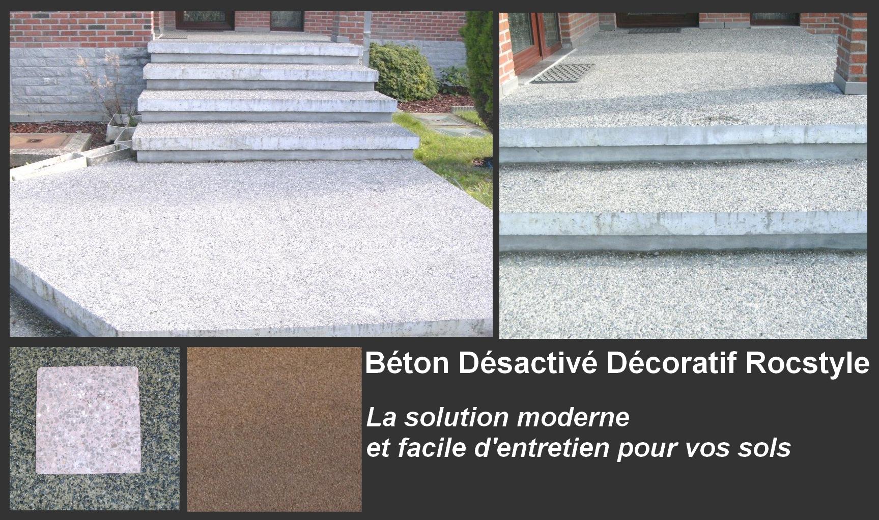 le b ton d sactiv d coratif rocstyle une solution. Black Bedroom Furniture Sets. Home Design Ideas